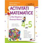 Activitati Matematice cu Rita Gargarita si Greierasul Albastru - Caiet - grupa mijlocie 4-5 ani