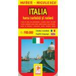 Harta Italiei - Turistica si rutiera