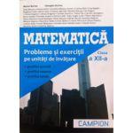 Matematica - Probleme si exercitii pe unitati de invatare, clasa a XII-a
