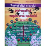Portofoliul elevului pentru clasa I, semestrul 1 - Matematica si explorarea mediului