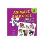 Animale salbatice - Puzzle pentru podea cu 20 de piese (3-6 ani)
