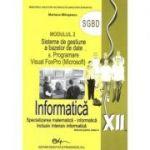 Informatica SGBD, manual pentru clasa a XII-a (Specializarea, matematica-informatica. Inclusiv, intensiv informatica) - Mariana Milosescu
