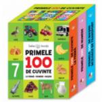 Bebe invata (set 3 carti) Primele 100 de cuvinte. La ferma, numere, masini