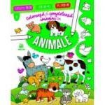Coloreaza si completeaza imagini cu animale
