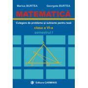 Matematica - Clasa a VI-a - Culegere de probleme si subiecte pentru teze - Semestrul I