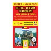 Belgia - Olanda - Luxemburg - Harta turistica si rutiera