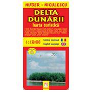Delta Dunarii - Harta turistica si rutiera