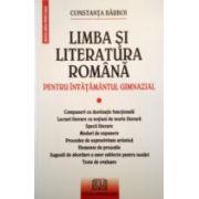 Limba si Literatura Romana pentru invatamantul gimnazial