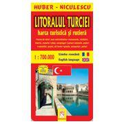 Litoralul Turciei - Harta turistica si rutiera