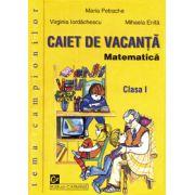 Matematica - Caiet de vacanta - Clasa I -  Tema campionilor