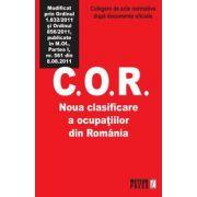 C.O.R. Noua clasificare a ocupatiilor din Romania