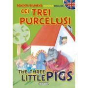 Povesti bilingve (romana-engleza) - Cei trei purcelusi