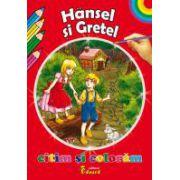 Citim si coloram - Hansel si Gretel