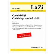 Codul civil si Codul de procedura civila actualizata la data de 10 octombrie 2011- Editia 9
