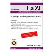 Legislatia privind profesia de avocat - Actualizat la 20.09.2011