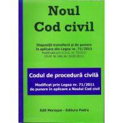 Noul cod civil si codul de procedura civila - Modificat prin Legea 71/2011