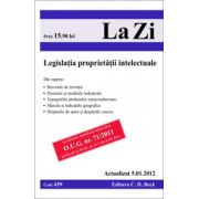 Legislatia proprietatii intelectuale. Actualizat la 5.01.2012