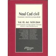 Noul Cod civil — Comentarii, doctrina, jurisprudenta Vol. III, Art 1650-2664