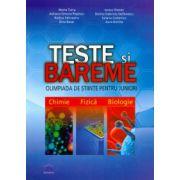 Teste si Bareme. Olimpiada de stiinte pentru Juniori, chimie, fizica, biologie