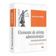Elemente de stiinta administratiei