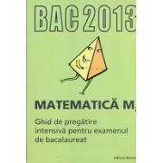 Bacalaureat 2013 Matematica M2. Ghid de pregatire intensiva pentru examenul de bacalaureat