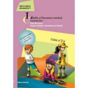 Limba si literatura romana 2013. Comunicare clasa a V-a Semestrul I