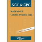Noul Cod civil. Codul de procedura civila actualizat 26 septembrie2012