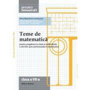 Teme de matematica 2013. Clasa a VII-a - Semestrul 1