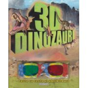 Dinozauri 3D. Carte cu teste si abtibilduri