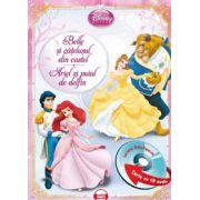 Disney Audiobook Printese: Belle si catelusul din castel. Ariel si puiul de delfin - Carte + CD