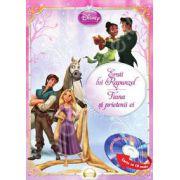 Disney Audiobook Printese: Eroii lui Rapunzel. Tiana si prietenii ei (Carte + CD)