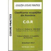 Clasificarea ocupatiilor din Romania, C.O.R, actualizat 2013