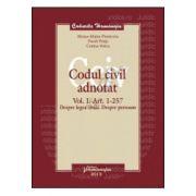 Codul civil adnotat. Vol. I. Art. 1-257, Despre legea civila. Despre persoane