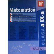 Matematica M1 clasa a IX-a, culegere de probleme