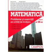 Matematica M2. Probleme si exercitii pe unitati de invatare, pentru clasa a IX-a (Profilul, servicii, resurse, tehnic)