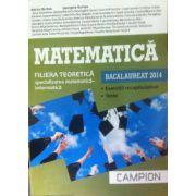 Matematica bacalaureat 2014. Filiera teoretica, specializarea matematica-informatica. Exercitii recapitulatie. Teste