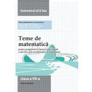 Teme de matematica clasa a VII-a. Semestrul II (2014)