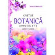 Caiet de botanica pentru clasa a V-a. Exercitii si culoare