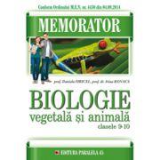 Memorator de biologie. Animala si Vegetala clasele IX-X