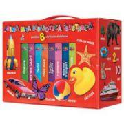 Cutie cadou Prima mea biblioteca ilustrata - Contine 8 carti Bebe invata