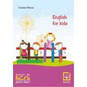 English for kids, caiet de lucru clasa I