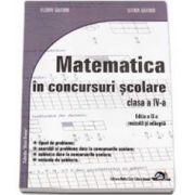 Matematica in concursuri scolare clasa a IV-a