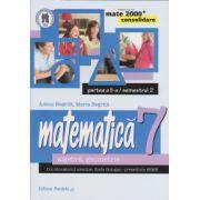 Matematica 2000 CONSOLIDARE 2014-2015 algebra, geometrie clasa a VII-a partea a II-a/semestrul 2
