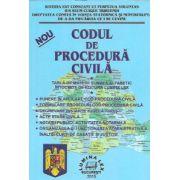 Codul de procedura civila 2015. Tabla de materii si index alfabetic