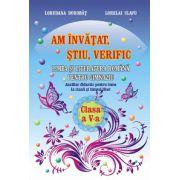 Am invatat, stiu, verific. Limba si literatura romana pentru clasa a V-a. Auxiliar didactic pentru teme la clasa si timpul liber (Loredana Dorobat)