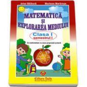 Matematica si explorarea mediului, clasa I - semestrul 1