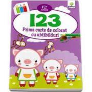 123. Prima carte de colorat cu abtibilduri (2-5 ani)