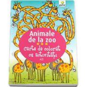 Animale de la Zoo. Carte de colorat cu activitati (3-5 ani)