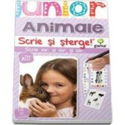 Animale. Scrie si sterge (Junior 2-5 ani)