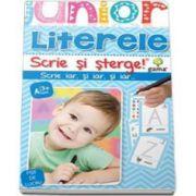Literele. Scrie si sterge (Junior 3-5 ani)